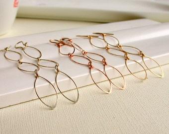 Cascading Oval Earrings. Dangle. Artisan. Jewelry.