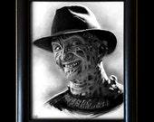 Freddy Krueger - Original Drawing - Nightmare on Elm Street Horror Dark Art Pop Art Wes Craven Death Movie Scary Halloween Serial Killers