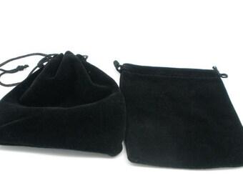 6 black 12x10cm velvet small gift bag pouches7830c
