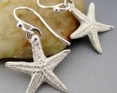Fine Silver Starfish Sterling Silver Earrings