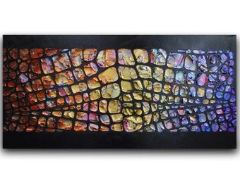 Abstract Art Painting Large Original Modern Palette Knife Oil Painting Multicolored Texture Art by Susanna MADE2ORDER