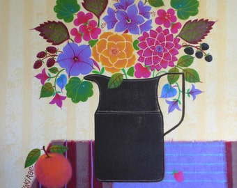 Painting - Fruit & Flowers