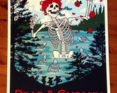 Dead & Company Poster Dead And Co Grateful Dead Gigposter Skull Roses GIGART Print