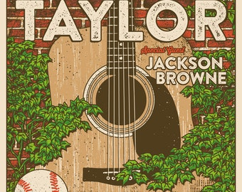 James Taylor Wrigley Field Jackson Browne Gigposter Poster by GIGART
