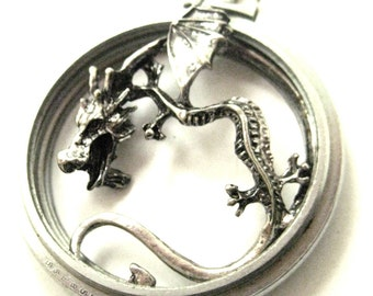 Dragon Pocket    ... Steampunk Dragon in a Pocket Watch Case One of a Kind Creation