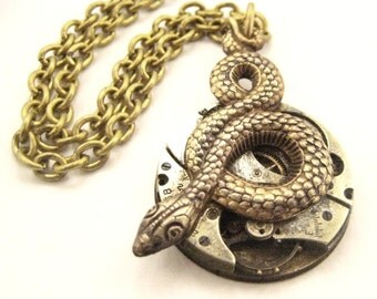 Time Snake ... Steampunk Watch Movement One of a Kind Creation
