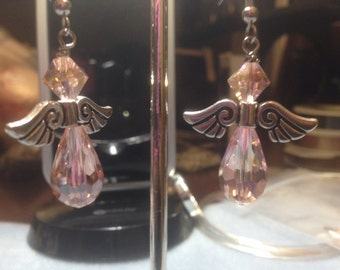 Pink Angel Handmade Earrings