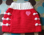 Dog Sweater Vest - Hugs and Kisses - Size M - Ready to Ship Today