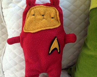 Scotty ~ The Star Trek Bear Bummlie ~ Stuffing Free Dog Toy ~ Ready To Ship Today