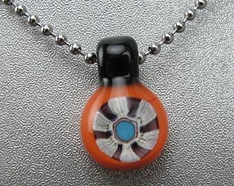 Handmade Lampwork Glass Focal Mini Pendant by Jason Powers SRA