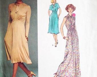 Vintage Vogue French Boutique Sewing Pattern Renata 80s Dress Vogue 1418 34 Bust