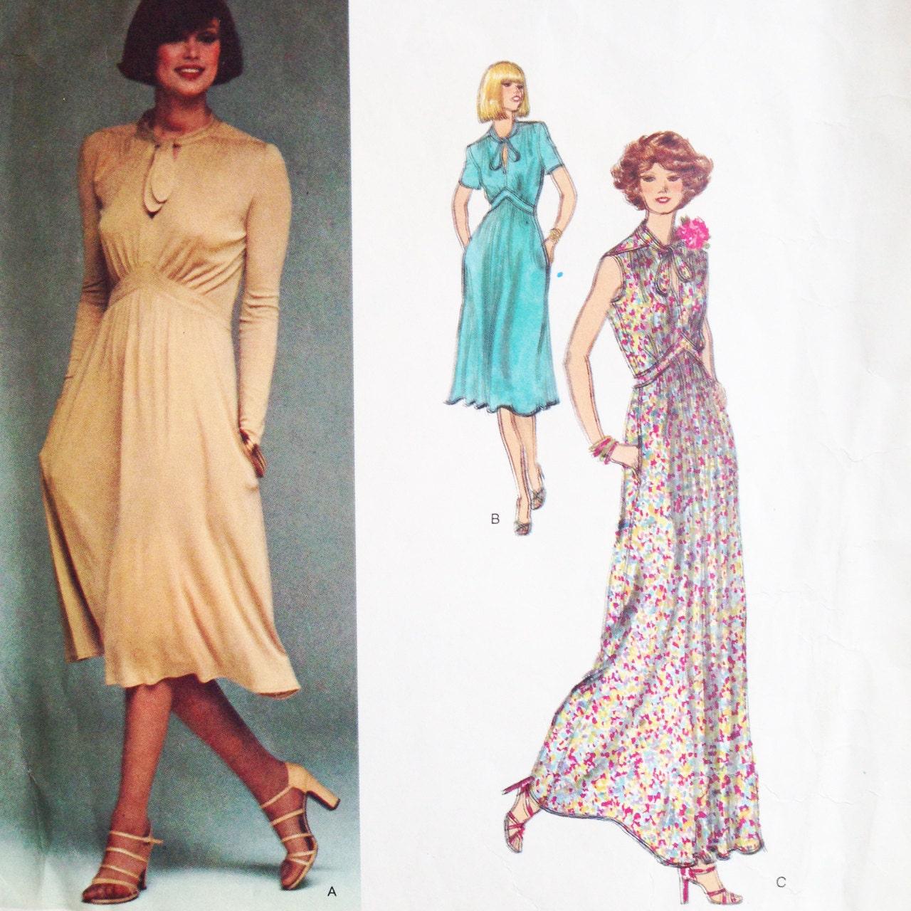 Vintage vogue french boutique sewing pattern renata 80s dress details pattern jeuxipadfo Image collections