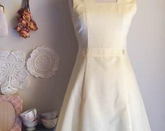 Sweet Vintage 60s Mod Yellow Pinstripe Tennis Dress