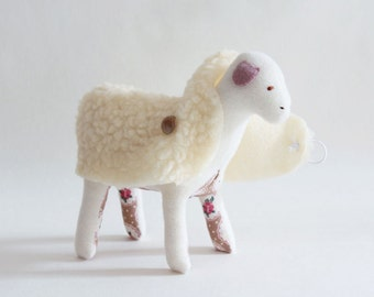 Soft toy - sheep - white