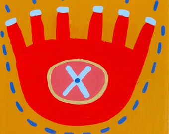 Six - Fingered Symbol / original painting / more than five but fewer than seven / 5053