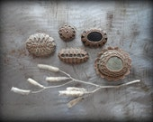 Miniatures, Crochet Lace Pebbles, Table Decorations, Collectibles, Small, Collection of 5, Handmade, Original, Monicaj