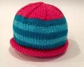Pink + Blue Newborn Knit ...