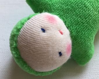 grass green, Waldorf pocket doll, germandolls, waldorf toy