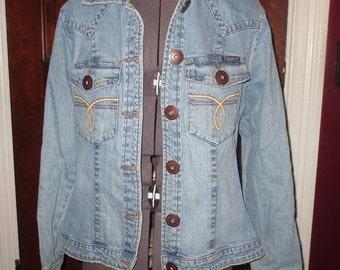 50% Off SALE Short Fitted Denim Jean Jacket Ladies Small Z. Cavaricci