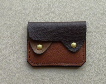 Earth Colors  Leather  Wallet, Coin Purse, Card Case, Minimalist Wallet