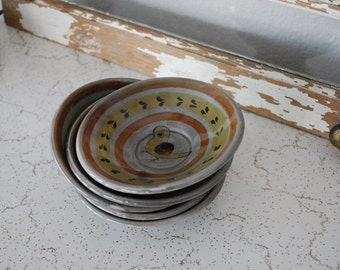 Vintage Mexican Pottery Bowls Tonala Ken Edwards (5)