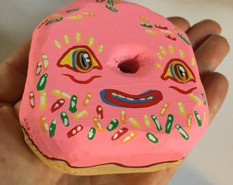 Pink frosted donut cutie