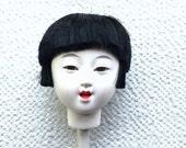 Japanese Doll Head Hina Matsuri Japanese Doll Festival Girl's Head D11-44