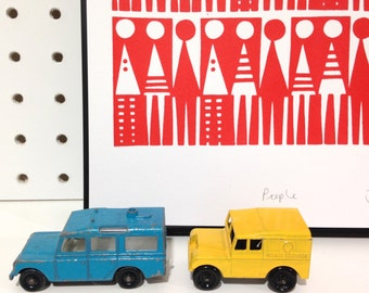 Formica People Screen Print by Jane Foster  - retro girls signed atomic original Scandi style