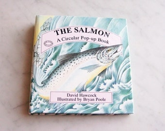 "Vintage Childrens Circular POP-UP Book ""The Salmon"" David Hawcock / Bryan Poole"
