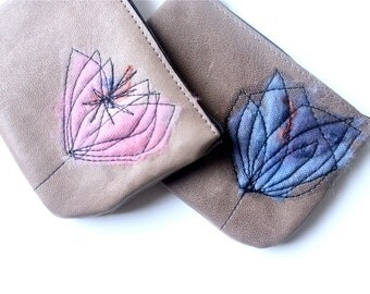 Leather Coin Purse - Rose Quartz