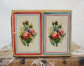 antique paper roses bouquet        playing card box