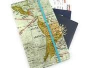 Travel organizer, Travel wallet, passport holder, family travel organizer, passport wallet, travel organizer - World Map