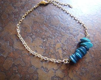Cerulean Glass Serenity Chain bracelet