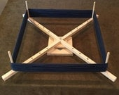 Large Yarn Swift Winder Adjustable Skeinwinder with ball bearing base & Yarn Caddy Attachment!