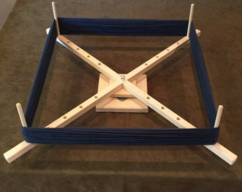Large Yarn Swift Winder Adjustable Skeinwinder with ball bearing base! Handcrafted in the USA!