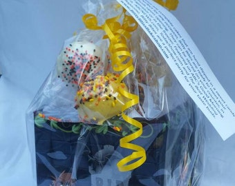 Halloween Cake Ball Sampler Gift Box. Halloween gift. Hostess gift. Autumn. Children. Trick or Treat