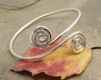 Spiral Bracelet in Sterling Silver