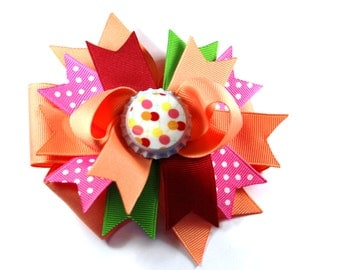 Boutique Bottle Cap M2MG Cherry Baby Hair Bow