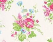 Tanya Whelan, Sadie's Dance Card collection, Wild Flower on White, yard
