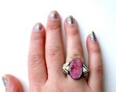 One of a Kind Cobalto Calcite Handmade Ring