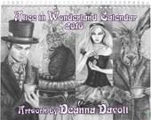 2016 Alice in Wonderland Calendar Art Calendar Deanna Davoli