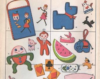 McCall's 20 Felt Patterns - Vintage 60's