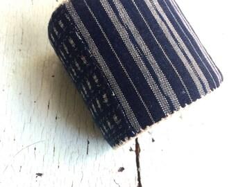 Indigo Kasuri Adjustable Cuff Bracelet