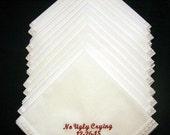 Set of 12 Gift Handkerchiefs - Wedding Favors- Wedding Handkerchiefs- Personalized Hankies-199S