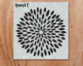"""Exotic Mum Pointy Petals Stencil- Reusable Craft & DIY Stencils- S1_PA_86_S -Small-(5.75""""x6"""")- By Stencil1"""