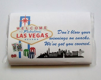 Popcorn Wrapper - LAS VEGAS - Microwave Popcorn Sleeve - Favor - Welcome Gift Bags - Hotel Guest
