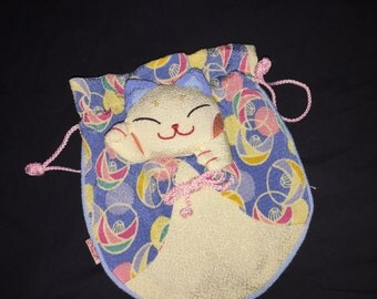 Vintage Japanese Hello Kitty Silk Bag