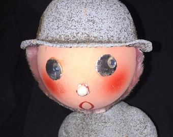 West German Christmas Bobble Head Candy Container