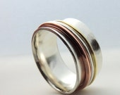 On Sale Worry Ring - Silver Spinner Ring - Meditation Ring SR100