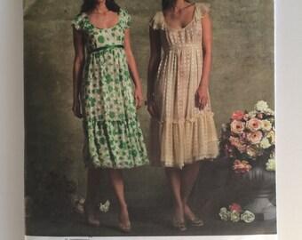 Anna Sui Vogue 2940 Sewing Pattern Uncut Size 6, 8, 10, 12